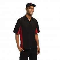 Chef Works Unisex Contrast Shirt Black & Red