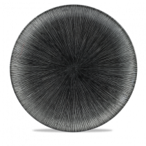 Churchill Studio Prints Agano Black Coupe Plate 28.8cm
