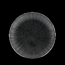Churchill Studio Prints Agano Black Coupe Plate 16.5cm
