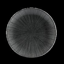 Churchill Studio Prints Agano Black Coupe Plate 21.7cm