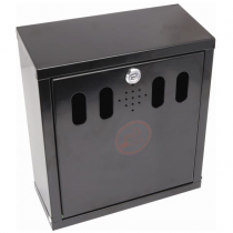 Wall Mounted Outdoor Ashtray Black