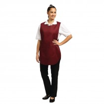 Whites Tabard Apron Burgundy With Pocket
