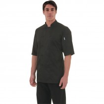 Chef Works Cool Vent Montreal Short Sleeve Chefs Jacket Black