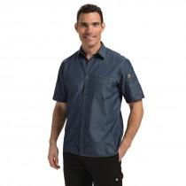 Chef Works Detroit Short Sleeve Unisex Denim Shirt
