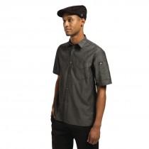 Detroit Unisex Short Sleeve Chefs Jacket Black Denim