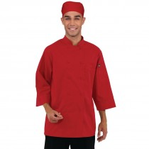 Colour by Chef Works Unisex Chefs Jacket Red