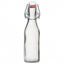 Glass Swing Bottle White top 0.25 Litre