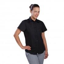Chef Works Cool Vent Short Sleeved Shirt Ladies Black