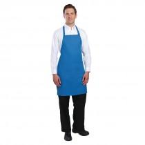 Chef Works Adjustable Neck Bib Apron Blue