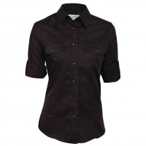 Chef Works Ladies Pilot Shirt Black