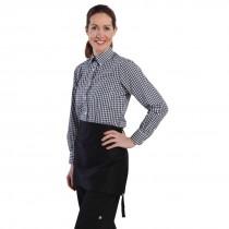 Chef Works Ladies Gingham Shirt Black