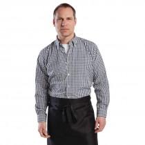 Chef Works Mens Gingham Shirt Black