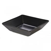 Royal Genware Square Bowl Luna Black 17.5 x 5cm