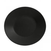 Royal Genware Round Wide Rim Plate Luna Black 30.5cm