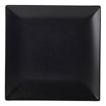 Royal Genware Square Coupe Plates Luna Black 24cm