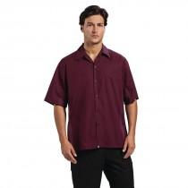 Chef Works Cool Vent Short Sleeved Chefs Shirt Merlot