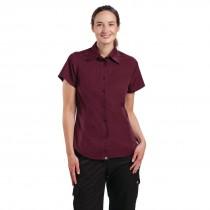 Chef Works Cool Vent Short Sleeved Shirt Ladies Merlot