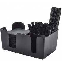 Bar Caddy Black 6 Compartments