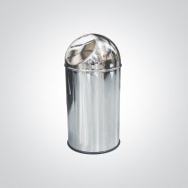 Dolphin Polished Stainless Steel Trash Can 18 Litres