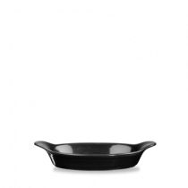 Churchill Cookware Oval Eared Dish Black 23.2 x 12.5cm
