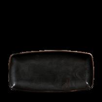 Churchill X Squared Oblong Plate Black 29.5 x 15.3cm