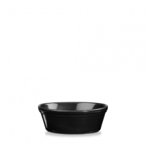 Churchill Cookware Oval Pie Dish Black 15.2 x 11.3 x 5cm