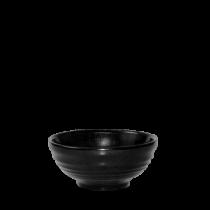 Churchill Bit on the Side Ripple Snack Bowls Black 12 x 5.7cm
