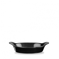 Churchill Cookware Small Round Eared Dish Black 15 x 18cm