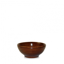 Churchill Bit on the Side Ripple Snack Bowls Cinnamon 10.4 x 4.9cm