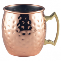 Barrel Copper Hammered Mug 40cl/14oz