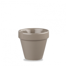 Churchill Bit on the Side Plant Pot Pebble 10.4 x 10.9cm
