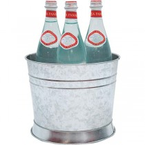 Round Galvanised Stainless Steel Beverage Tub