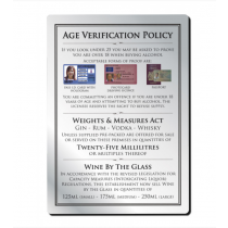 25ml 3 Part Age Verification Policy Notice