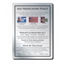 35ml 3 Part Age Verification Policy Notice