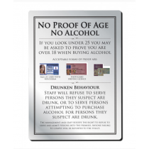 No Proof Of Age No Alcohol Notice