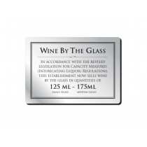 Wine by the Glass Bar Sign 125ml & 175ml