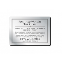 Fortified Wine by the Glass Sign 50ml
