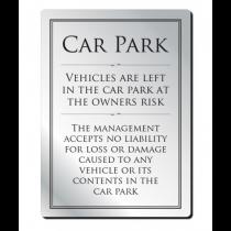 Car Park Disclaimer Sign
