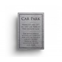 Car Park Disclaimer Sign