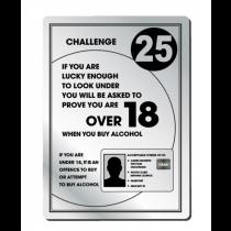 Challenge 25 Bar Licensing Notice
