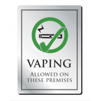 Vaping Allowed On These Premises Notice