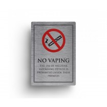 No Vaping Allowed On These Premises Notice