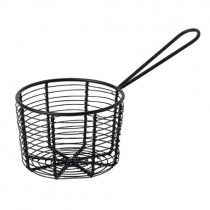 Black Wire Basket with Handle 23 x 12 x 8(H)