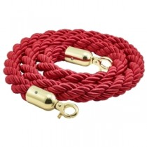 Barrier Rope Red- Brass Plated Ends 1.5m