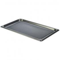 Genware Non-Stick Aluminium Ridged Baking Tray GN 1/1