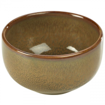 Terra Stoneware Round Bowl Rustic Brown 11.5cm