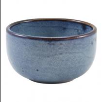 Terra Porcelain Aqua Blue Round Bowl 12.5 x 6.5cm