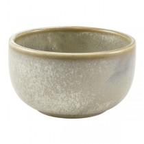 Terra Porcelain Grey Round Bowl 12.5 x 6.5cm