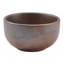 Terra Porcelain Rustic Copper Round Bowl 11.5 x 5.5cm