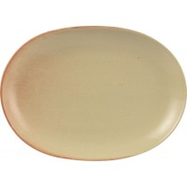 Rustico Flame Vitrified Stoneware Oval Plates 30.5 x 21cm